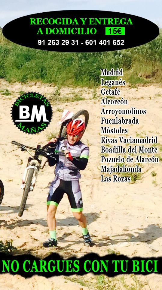 Recogida y entrega a domicilio, BM Tienda de bicicletas en Leganes Fulcrum Madrid